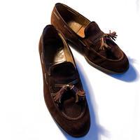 1960's Florsheim Suede Tassel Loafers
