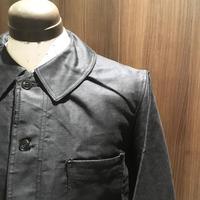 1950's Le Favori Black Moleskin Jacket Deadstock