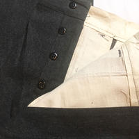 1940's Unknown Black Chambray Trousers Deadstock