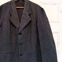 1940〜50's French Unknown Herringborn Stripe Work Jacket