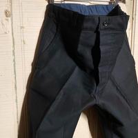 1950's〜 French Unknown Black Moleskin Trousers Deadstock
