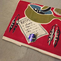 1950's Unknown Pure Linen Table Mat Deadstock