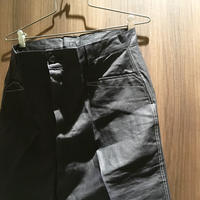 1950's French Unknown BIack Linen Trousers Deadstock