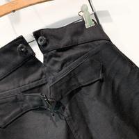 1930's Dubune&Devenchene Black Moleskin Trousers Deadstock