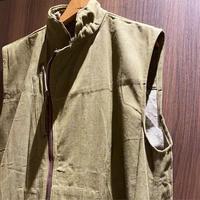 1940's British Military Green Denim Vest Deadstock