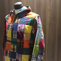 1960's PETERS Indian Madras Patchwork Anorak Parka