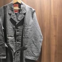 1950's LE VETEMENT ATLANTIQUE Black Chambray Atelier Coat Deadstock