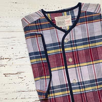 1960's DONEGAL Indian Madras Henlyneck S/S ShirtDeadstock