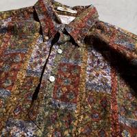 1960's Manhattan Batik Print Pullover S/S Shirt