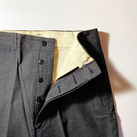 1940's〜 Unknown Black Chambray Trousers Deadstock