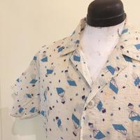 1950's Unknown Seersucker S/S Pajama Shirt