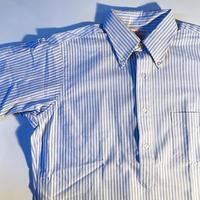 1960〜70's〜 ARTHURL.JOHNSON CO. Seersucker Pullover S/S Shirt Deadstock