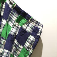 1970's〜 Lady Halrin Indian Madras Patchwork Short Pants
