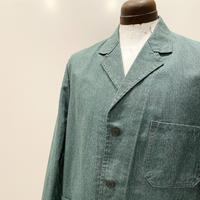1950's NUNDA Green Chambray Work Jacket Deadstock