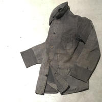 1930〜40's Le fnoletaine Black Chambray Fade&Patchwork Jacket