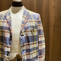 1960's Cape Cod Clothing Indian Madras Tailored Jacket Deadstock