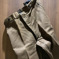 1940's〜 SAVO Brown Pique Trousers Deadstock