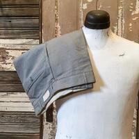 1940〜50's Unknown Gray Matte Cotton Trousers Deadstock