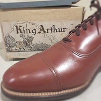 1950's King Arthur Leather Shoes Deadstock
