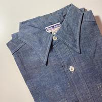 1950〜60's DOUBLE RINGER Chambray S/S Shirt Deadstock