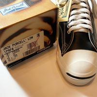 1990's CONVERSE JACK PURCELL Black Leather Low Deadstock