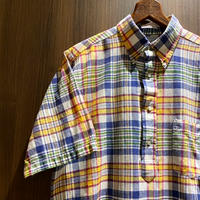 1970's The Ascot Shop Indian Madras Pullover S/S Shirt