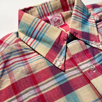 1980's〜 Brooks Brothers Indian Madras S/S Shirt Deadstock