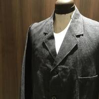 1950's le pigeon voyageur Black Chambray Atelier Coat Deadstock