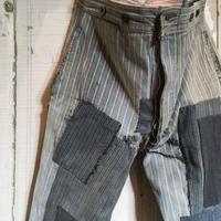 1930's St.Michel Cotton Trousers Patchwork