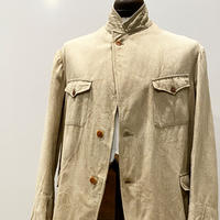 1930〜40's French Unknown Brown Covert Work Jacket