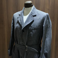 1950's FOR TISS GARANTI BOUSSAC Black Chambray Atelier Coat