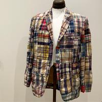 1960's Martin Eastman Ltd Indian Madras Patchwork Tailored Jacket