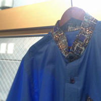 1980's Unknown Batik 2-tone S/S Shirt