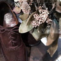 1970's SAXONE Brown Suede Shoes