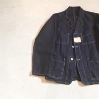 1940's TISSAGE&CONFECTIONS Indigo Linen Jacket