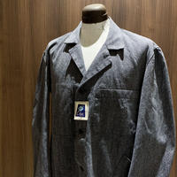 1950's FLEUR BLEUE Black Chambray  Atelier Coat Deadstock