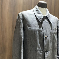 1950's French Military Black Chambray Atelier Coat Deadstock