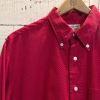 1960's  W.T.GRANT Pin Dots Pattern L/S Shirt