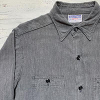 1950's DOUBLE RINGER Black Chambray L/S Shirt