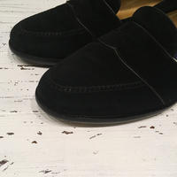 1980〜90's COLE-HAAN Black Suede Loafers