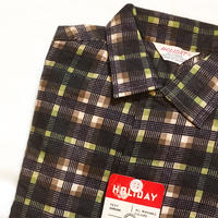 1960's HOLIADY Flannel L/S Shirt Deadstock