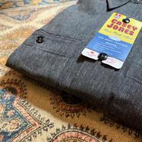 1950's CASEY JONES Black Chambray L/S Shirt Deadstock