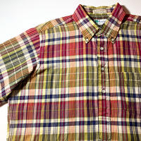 1970's the Narragansett Indian Madras Pullover S/S Shirt