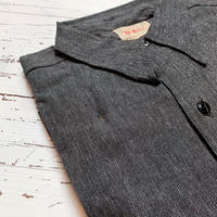 1950's PAL Black Chambray L/S Shirt Deadstock