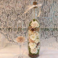 Antique bottle flower cream