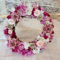 "【Pre Order】cocorohana Flower wreath ""lovely rose"""
