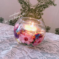 Candle Glass Flower