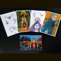 辻崇デザインのポストカード5枚セット (1drinkチケット付き)Takashi Tsuji  Psostcards 5pcs (with 1drink ticket)