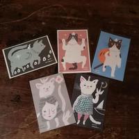 足田メロウ デザインのポストカード5枚セット (1drinkチケット付き)Mellow Ashida  Postcard Set 5pcs (with 1drink ticket)