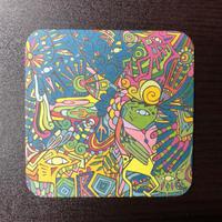 ラス制作 紙コースター10枚セット (1drinkチケット付き)Rass Paper Coster Sets 10pcs (with 1drink ticket)